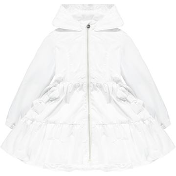 Picture of Ariana Dee Girls 'Lacey' White Raincoat