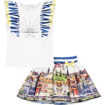 Picture of Ariana Dee Girls 'Lia' Printed Skirt Set