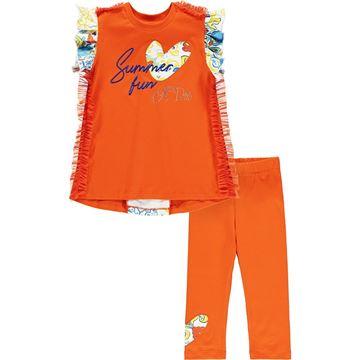 Picture of Ariana Dee Girls 'Luna' Orange Leggings Set