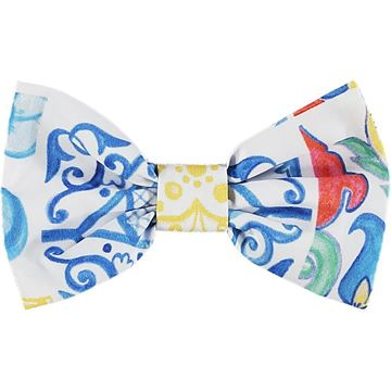 Picture of Ariana Dee Girls 'Leona' Blue Printed Bow