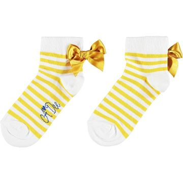 Picture of Ariana Dee Girls 'Libby' Yellow Stripe Ankle Socks