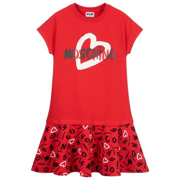 Picture of Moschino Girls Red Heart Dress