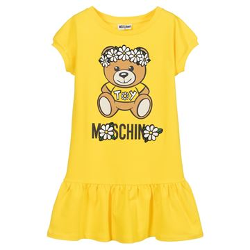 Picture of Moschino Girls Yellow Daisy Dress