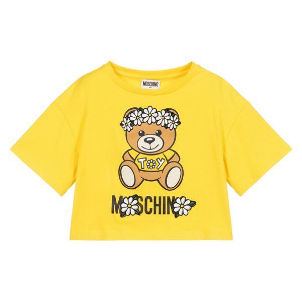 Picture of Moschino Girls Yellow Daisy T-Shirt