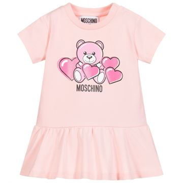 Picture of Moschino Baby Girls Pink Teddy Dress