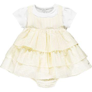 Picture of Little A 'Kayla' Baby Lemon Stripe Romper Set