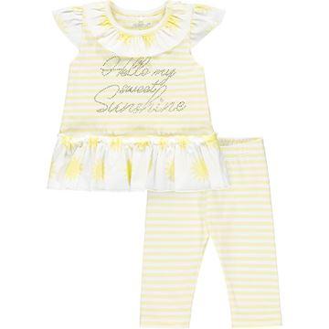 Picture of Little A 'Katriona' Baby Lemon Stripe Leggings Set