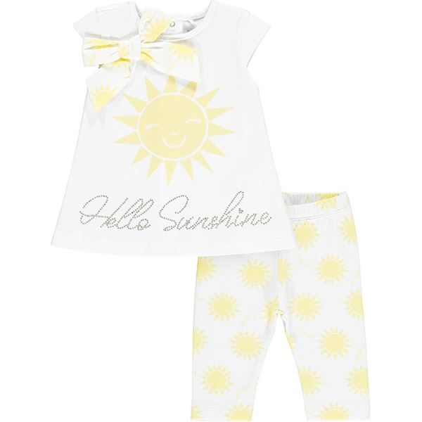 Picture of Little A 'Kady' Baby White Sunshine Leggings Set
