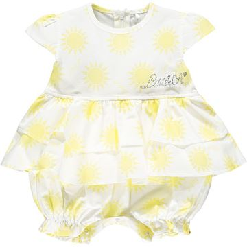 Picture of Little A 'Kacie' Baby White Sunshine Romper