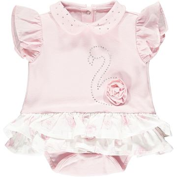Picture of Little A 'Jadine' Baby Pink Flamingo Romper