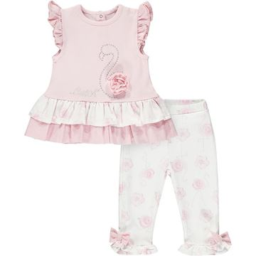 Picture of Little A 'Jaffa' Baby Pink Flamingo Leggings Set