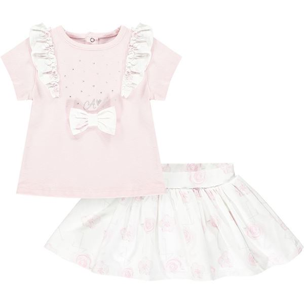 Picture of Little A 'Jaimie' Baby Pink Flamingo Skirt Set