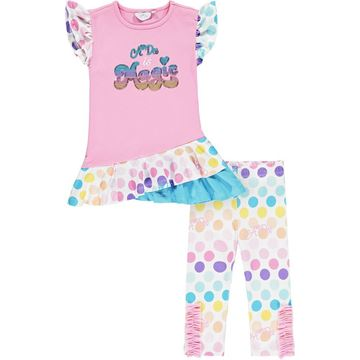 Picture of Ariana Dee Girls 'Nellie' Spotty Leggings Set