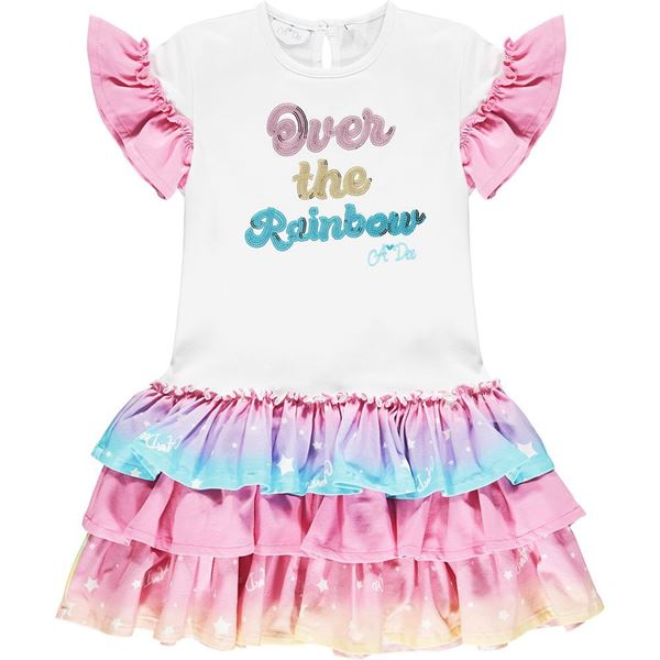 Picture of Ariana Dee Girls 'Nannette' Rainbow Dress