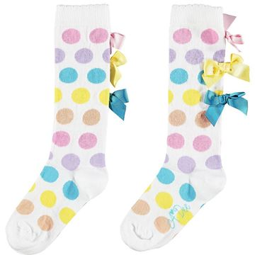 Picture of Ariana Dee Girls 'Nicoletta' Spotty Knee Socks