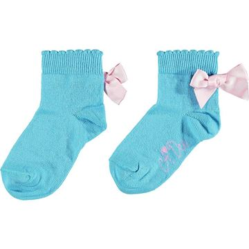 Picture of Ariana Dee Girls 'Nic' Blue Ankle Socks