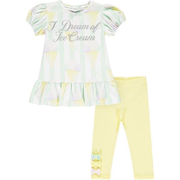 Picture of Ariana Dee Girls 'Onika' Ice Cream Lemon Leggings Set