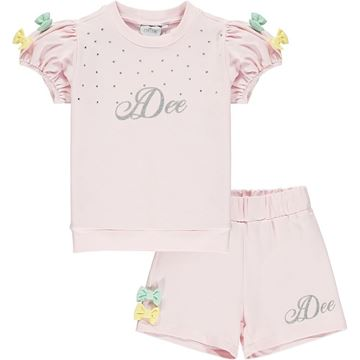 Picture of Ariana Dee Girls 'Omaria' Pink Short Suit