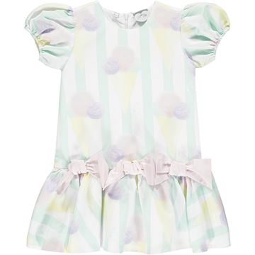 Picture of Ariana Dee Girls 'Odean' Ice Cream Mint Dress