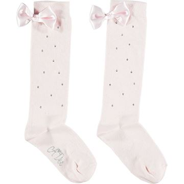 Picture of Ariana Dee Girls 'Othina' Pale Pink Knee Socks