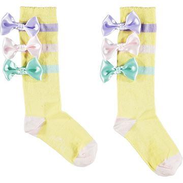 Picture of Ariana Dee Girls 'Orr' Lemon Bow Knee Socks