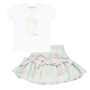 Picture of Ariana Dee Girls 2 Piece Ice Cream Skirt Set