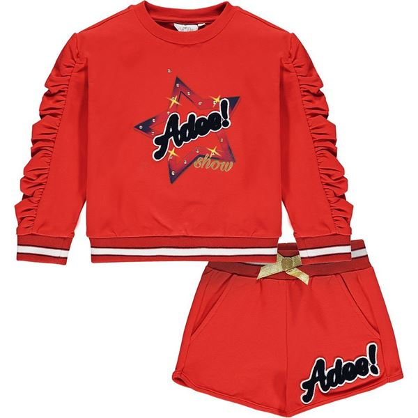 Picture of Ariana Dee Girls 'Milly' Red Jumper & Short Set