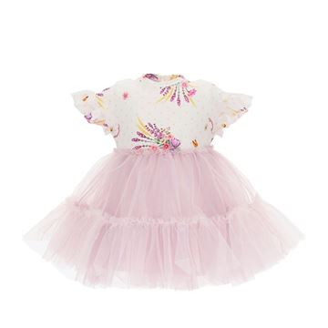 Picture of Monnalisa Baby Girl Lilac Tulle Dress