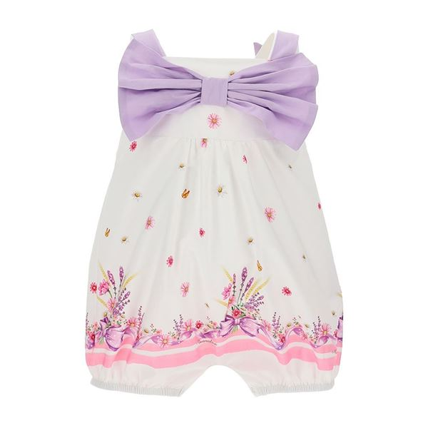 Picture of Monnalis Baby Girls Lilac Bow Romper