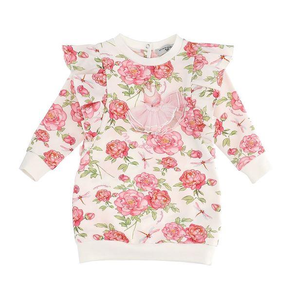 Picture of Monnalisa Baby Girls Pink Rose Print Dress