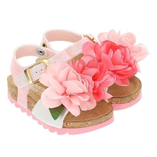Picture of Monnalisa Baby Girls Pink Rose Sandal