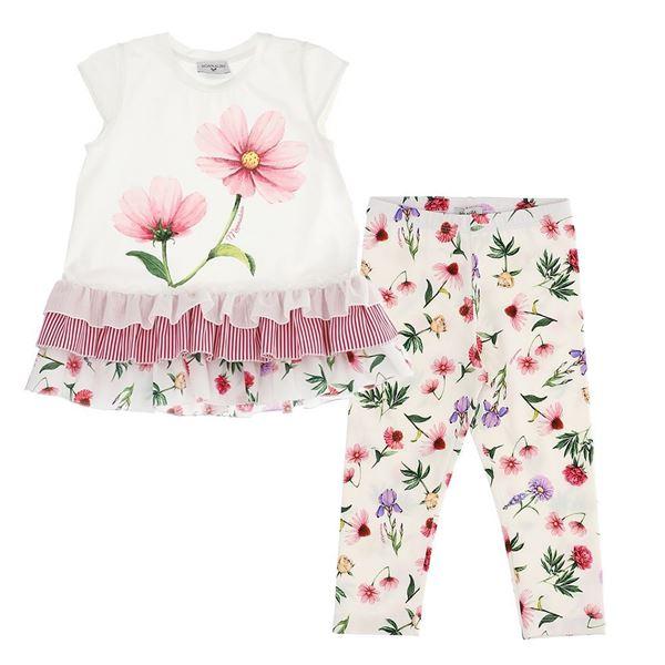 Picture of Monnalisa Girls Flower Tunic & Leggings