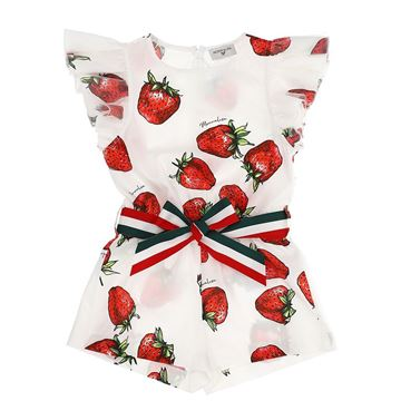Picture of Monnalisa Girls Strawberry Jumpsuit