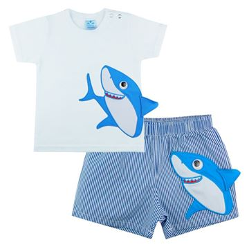 Picture of Sardon Boys Blue Shark Swim Set