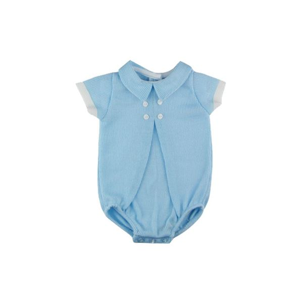 Picture of Sardon Boys Blue Knitted Romper
