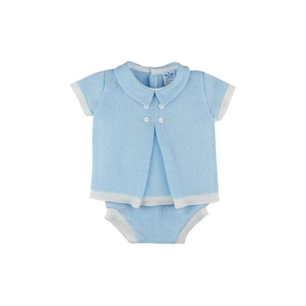 Picture of Sardon Boys 2 Piece Knitted Blue Knicker Set