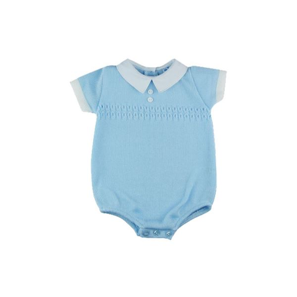 Picture of Sardon Boys Knitted Blue & White Romper