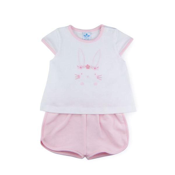 Picture of Sardon Girls Pink Rabbit Short Set
