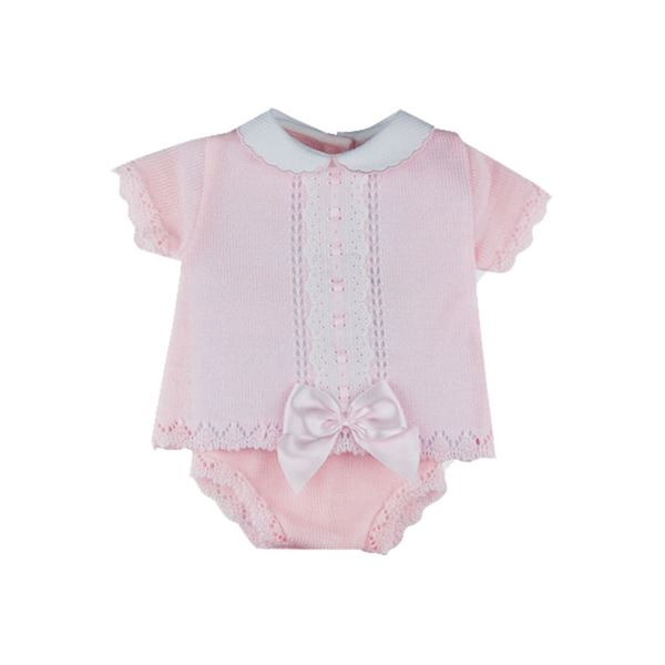 Picture of Sardon Baby Girls Knitted 2 Piece Knicker Set