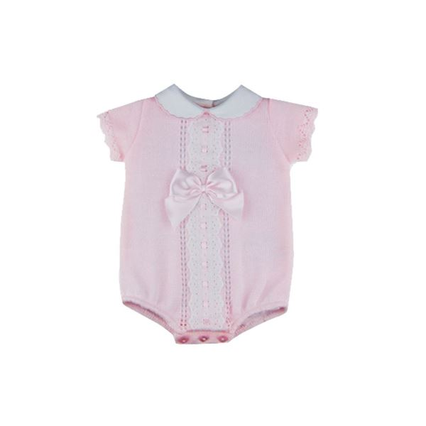 Picture of Sardon Girls Pink Knitted Romper