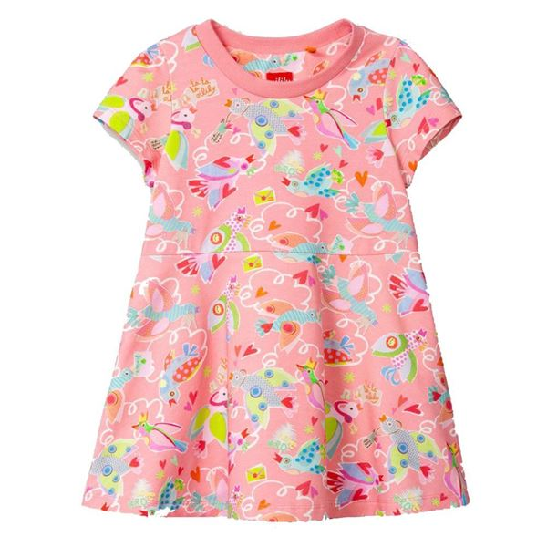 Picture of Oilily Girls 'Tweetz' PInk Jersey Dress