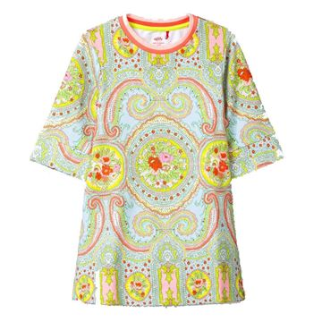 Picture of Oilily Girls 'Haver' Blue Paisley Sweater Dress