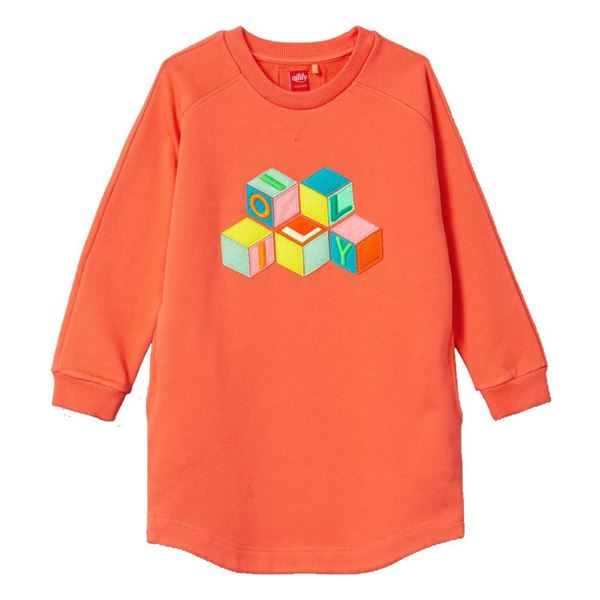 Picture of Oilily Girls 'Hope' Orange Blocks Jumper Dress