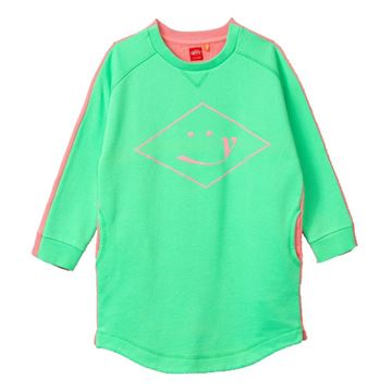 Picture of Oilily Girls 'Hope' Green & Pink Jumper Dress