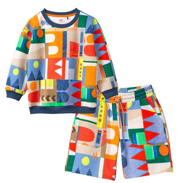 Picture of Oilily Boys 2 Piece Jumper & Shorts Set
