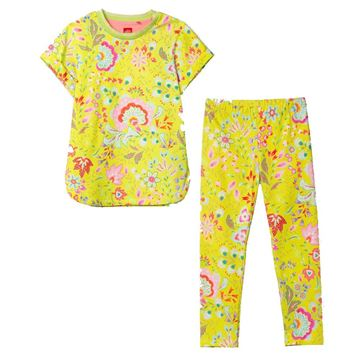 Picture of Oilily Girls Yellow Printed Top & Leggings