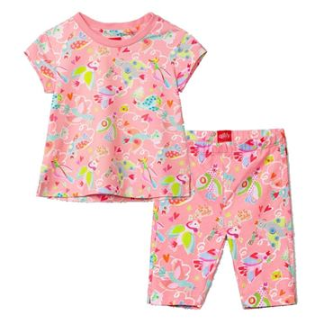 Picture of Oilily Girls Pink Bird Top & Leggings