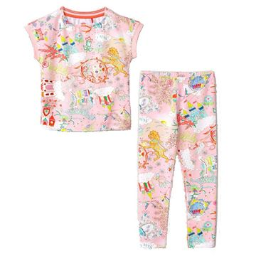 Picture of Oilily Girls Pink Cloud Top & Leggings