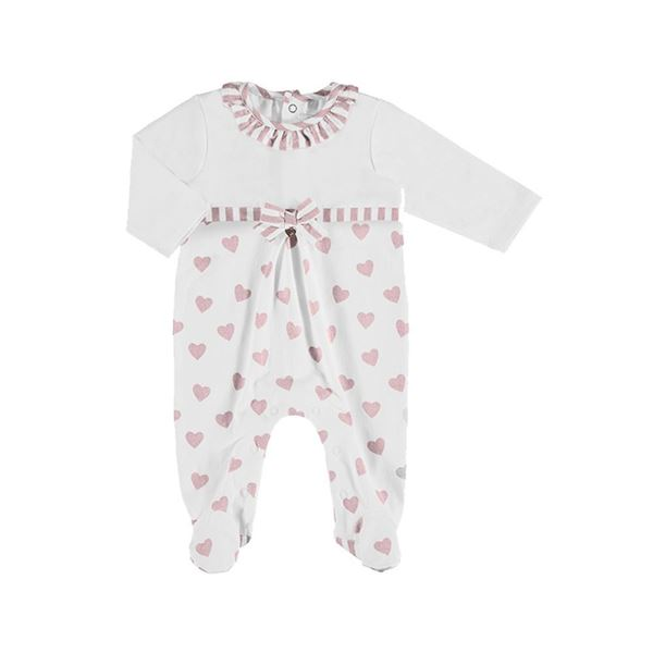 Picture of Mayoral Baby Girls Pink Heart Babygrow