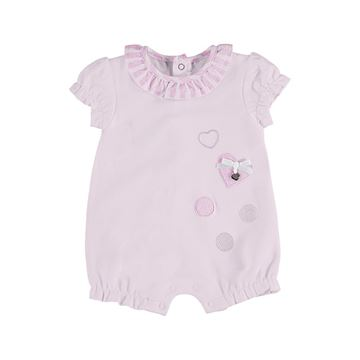 Picture of Mayoral Baby Girls Pink Hear Romper